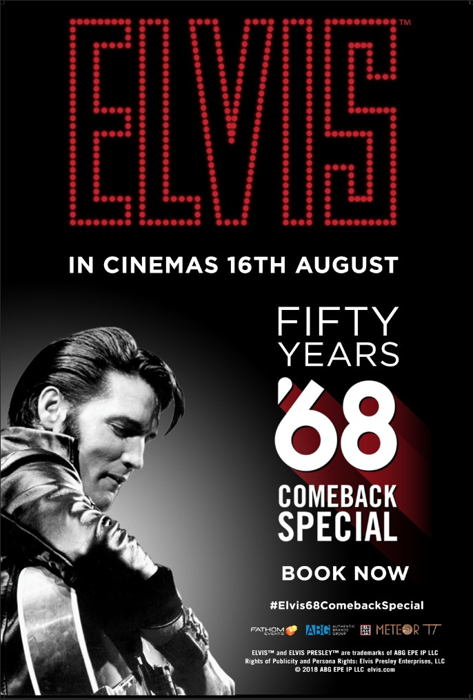 Elvis Presley's legendary '68 Comeback Special, directed and produced by Steve Binder, will hit the big screen this August in celebration of its 50th anniversary. #Elvis68ComebackSpecial