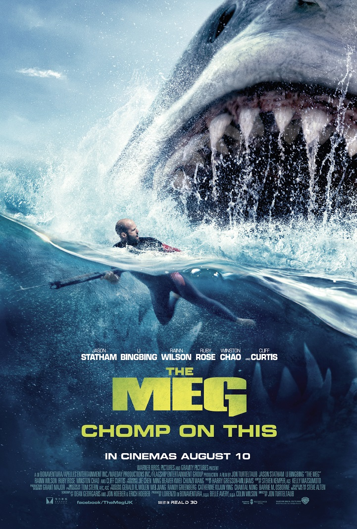 To celebrate the release of 'The Meg' in cinemas August 10th, Warner Bros. Picturesand Blazing Minds offer you the chance to win a chomp-tasticofficial merchandiseprize pack.