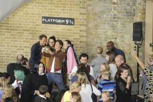 Eddie Redmayne and Jude Law Surprise Fans at Back to Hogwarts Celebration