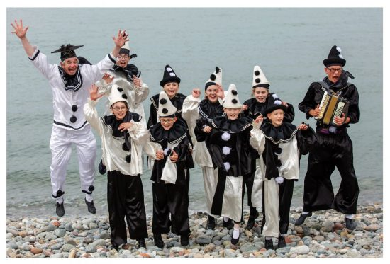 'The Jollies' – Llandudno's very own youth Pierrot troupe, led by Uncle Tacko (far left) and Mr Macko (far right) - Photo credit Paul Sampson
