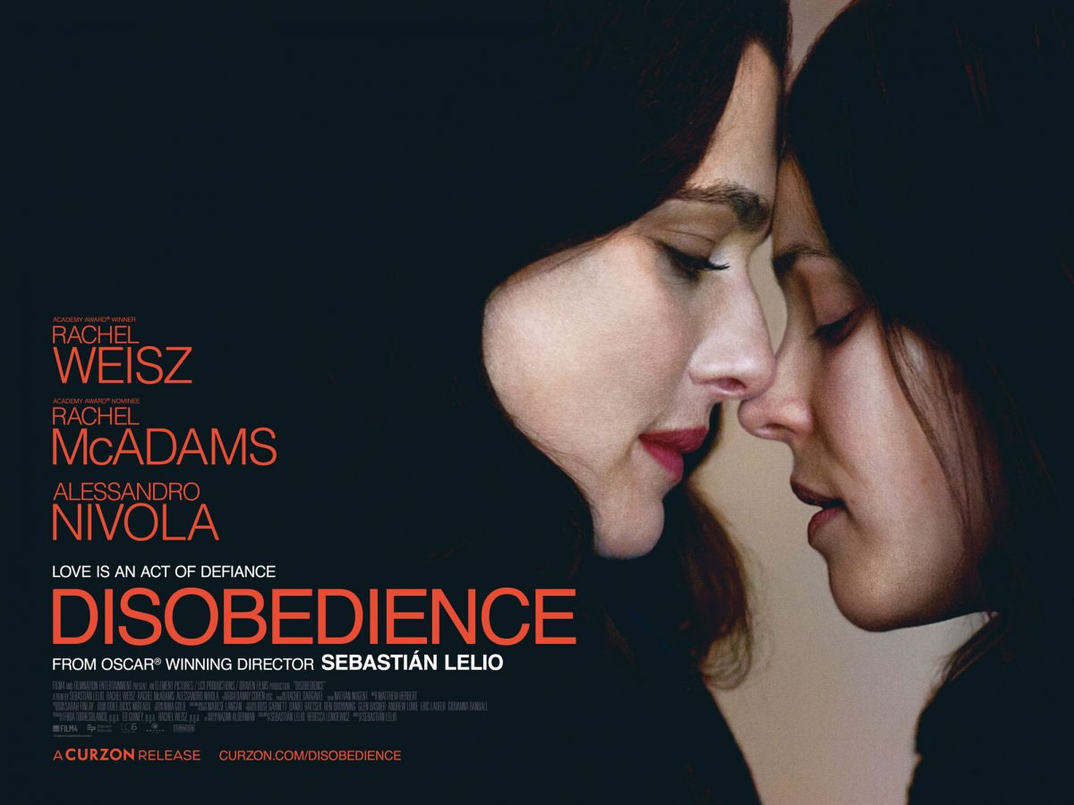 New Trailer and Poster for Disobedience starring Rachel Weisz