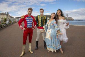 Stars of Cinderella at Venue Cymru spend the Day in Llandudno