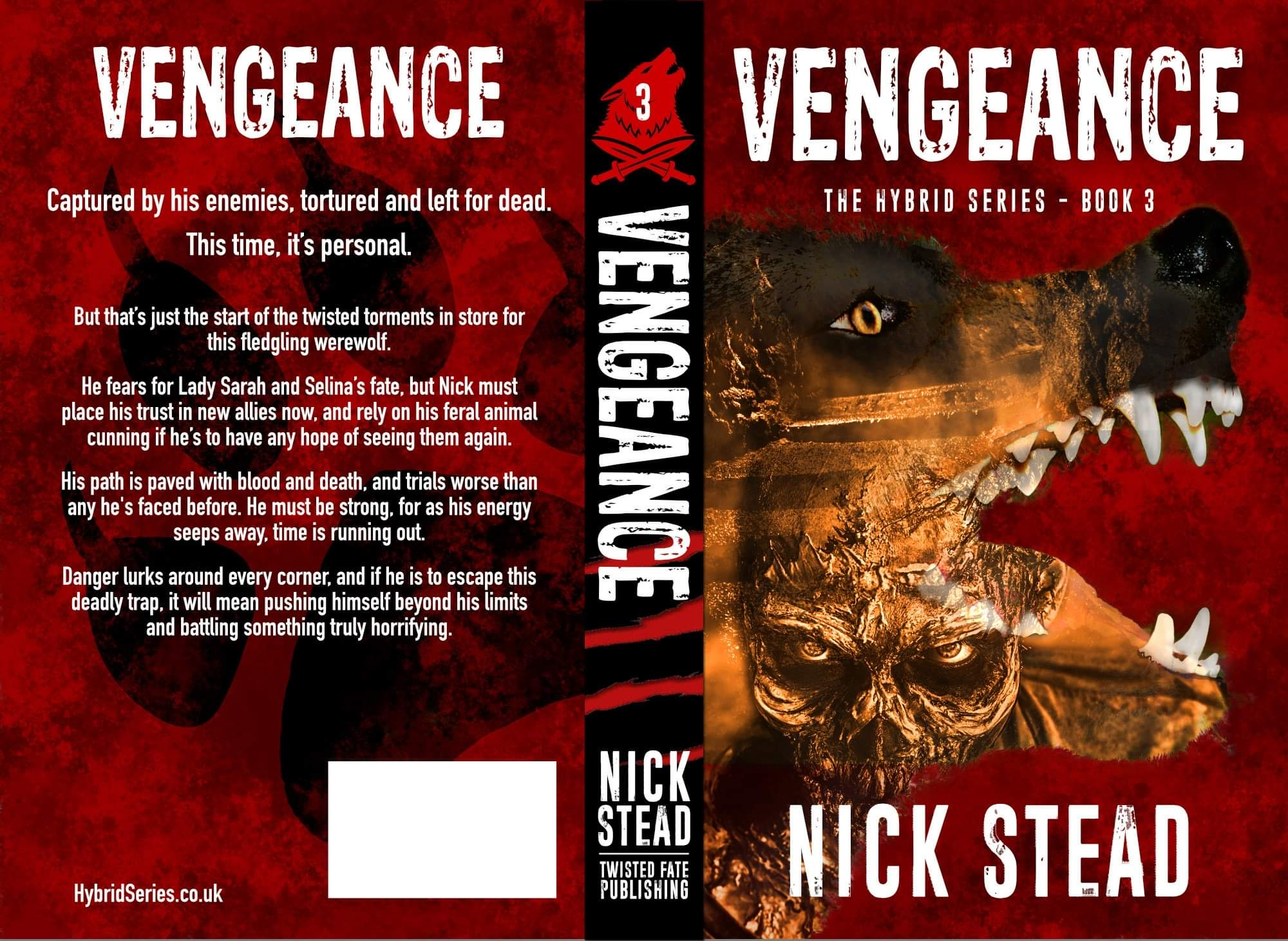 Twisted Fate Publishing to release a revised edition of Vengeance from horror author Nick Stead