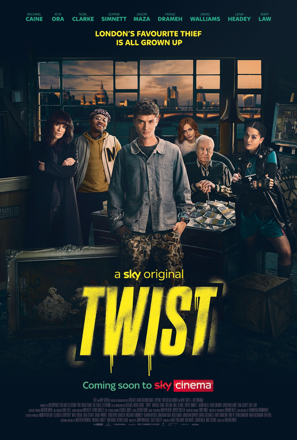 Sky Cinema Release Trailer and Poster for TWIST starring Sir Michael Caine