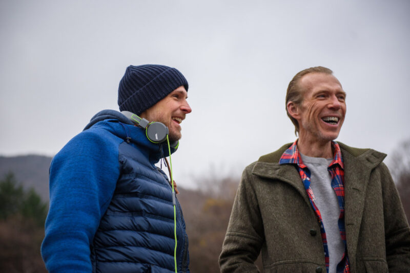 Giles Alderson and Richard Brake on the set of The Dare (Lionsgate UK)